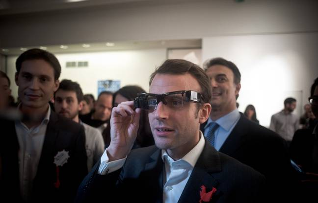 Emmanuel Macron (Minister of Economy) and Axelle Lemaire (Secretary of State in charge of digital) went to the social evening organized by the French Tech, which includes french start ups that will participate at CES in Las Vegas. Paris, France, December 18, 2014, photo by Nicolas Messyasz / Sipa Press/NICOLASMESSYASZ_0004/Credit:NICOLAS MESSYASZ/SIPA/1412190024