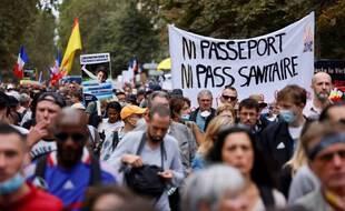Une nouvelle manifestation contre le pass sanitaire s'est tenue le 11 septembre 2021, ici à Paris.