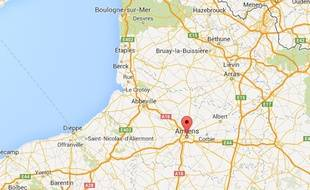 Google map d'Amiens (Somme).
