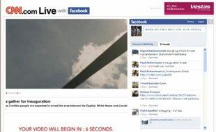 Capture d'écran du live de CNN sur Facebook
