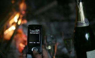 Les voeux virtuels envoyés dans la nuit de samedi à dimanche pour célébrer le Nouvel An ont battu un nouveau record chez les opérateurs de téléponie mobile Orange et SFR qui totalisaient peu avant 05H00 quelque 305 millions de SMS échangés.