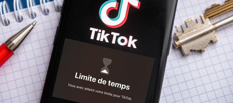 L'interface de TikTok