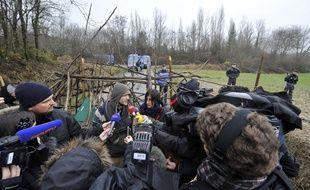 Lundi, des anti-barrage,sur le site de Sivens.
