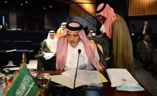 Le ministre saoudien des Affaires étrangères le prince Saud bin al-Faisal bin Abdulaziz lors du sommet de la Ligue arabe le 29 mars 2015 à à Charm el-Cheikh