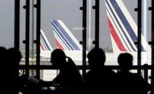 Des avions de la flotte Air France, le 15 septembre 2014 à l'aéroport d'Orly