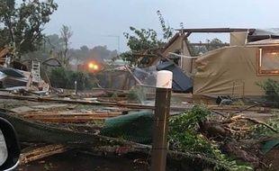 La tornade a blessé deux personnes dans un camping de Narbonne plage