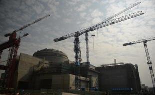 Le chantier de construction de la centrale nucléaire franco-chinoise de Taishan, le 8 décembre 2013.