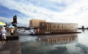 La société Carmo Wood, maître d'oeuvre, installera son siège social de Carmo France au premier étage du bâtiment flottant.