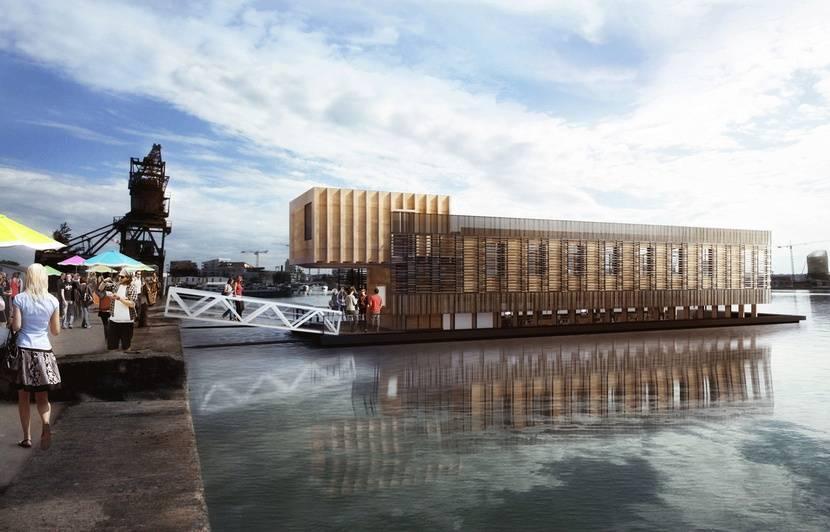 Bordeaux : Des bureaux flottants entièrement écolos débarquent, ils seront à flot début 2020