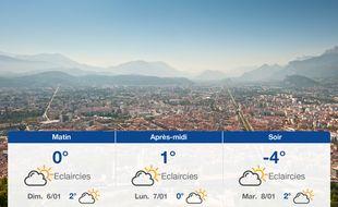 Météo Grenoble: Prévisions du samedi 5 janvier 2019