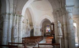 Une église en France (illustration).