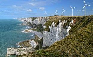 Un parc d'éoliennes en Normandie.