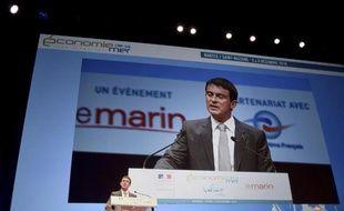 Le Premier ministre Manuel Valls aux Assises de l'économie de la mer et du littoral à Nantes, le 2 décembre 2014