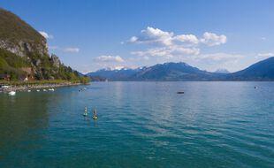 Photo d'illustration du lac d'Annecy, en avril dernier.