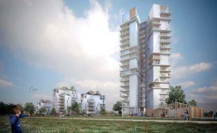 L'un des immeubles du programme Chromosome s'élèvera sur 19 étages.