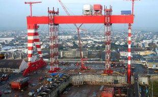 Image obtenue auprès de STX Europe des chantiers navals de Saint-Nazaire le 17 décembre 2013