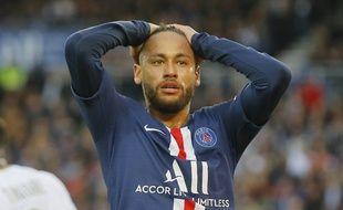 Neymar lors de PSG-Angers le 5 octobre 2019.