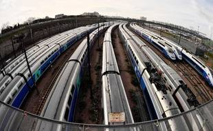 Le 4 avril 2018, des TGV en Gare de Lyon. AFP PHOTO / CHRISTOPHE SIMON