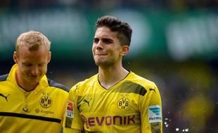 Marc Bartra en a pleuré de joie après avoir rejoué avec le Borussia Dortmund, le 20 mai 2017.
