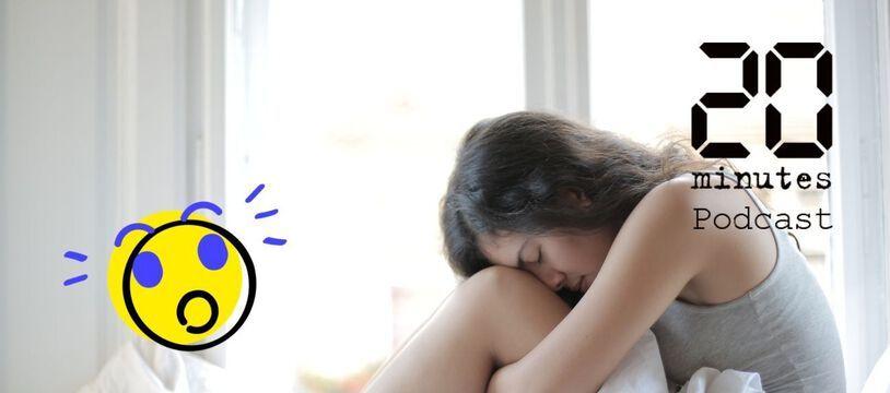 Illustration d'une personne au lit, souffrant