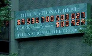 La «National debt clock» à Manhattan.