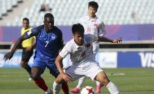 Augustin et les Bleuets ont facilement battu le Vietnam (4-0) en poule du Mondial U20, le 25 mai 2017.