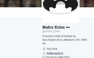 Compte Twitter de Maître Eolas.
