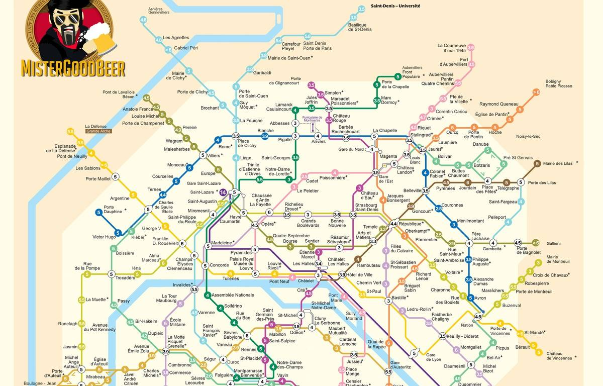 MisterGoodBeer, qui recense depuis 2012 les bières les moins chères à Paris, sort ce lundi sa carte du prix des pintes par station de métro. – /MisterGoodBeer