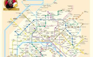 carte du metro