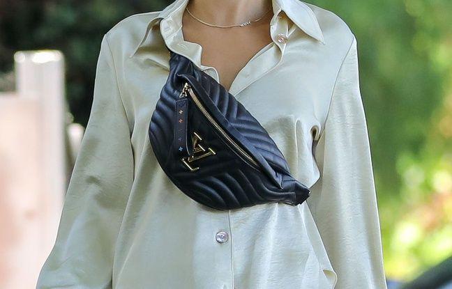 Hailey Baldwin et une banane Louis Vuitton.