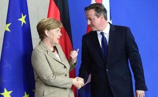 La chancelière allemande Angela Merkel et le Premier ministre britannique David Cameron à Berlin le 29 mai 2015