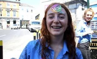 Cette jeune Irlandaise a voté en faveur de la libéralisation de l'avortement, le 25 mai 2018.