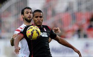 Youssef El Arabi, l'attaquant de Grenade en Liga espagnole.