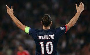 L'attaquant du PSG Zlatan Ibrahimovic en octobre 2013 lors d'un match de Ligue des champions.