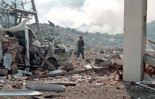 L'usine AZF, le 21 septembre 2001, à Toulouse.