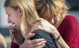 Une fusillade dans un lycée de Santa Fe, au Texas, a fait au moins huit morts, le 18 mai 2018.