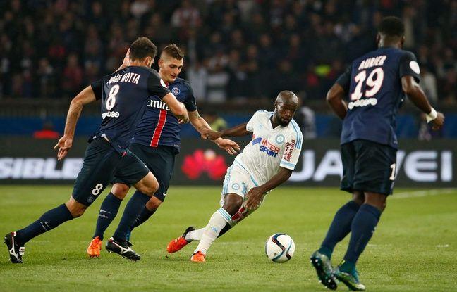Lassana Diarra lors du match entre l'OM et le PSG le 4 octobre 2015.