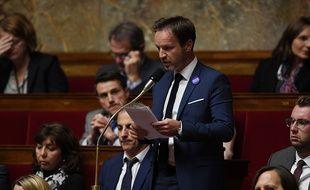 Le député LREM des Alpes-Maritimes Olivier Roussel à l'Assemblée nationale le 8 novembre 2017.