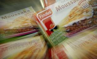 Lots de Moussaka surgelés Findus.