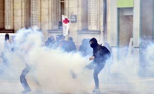 La fin de la manifestation a dégénéré à Nantes / AFP / LOIC VENANCE