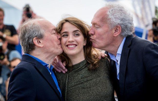 Jean-Pierre et Luc Dardenne à Cannes avec Adèle Haenel pour la présentation de La fille inconnue