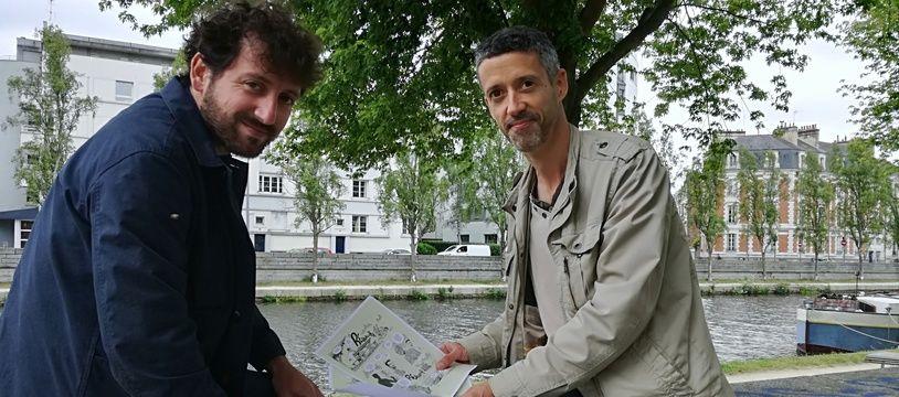 Loïc Gosset et Guillaume Fournier (aka Lomig), deux des auteurs à l'origine de la revue La Vilaine.
