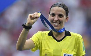 Stéphanie Frappart, lors de la finale de la Coupe du monde 2019.