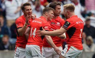 Les Saracens d'Ashton (numéro 14, désormais à Toulon), ont été sacrés champion d'Europe en mai dernier.