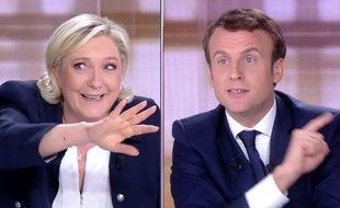 Marine Le Pen face à Emmanuel Macron