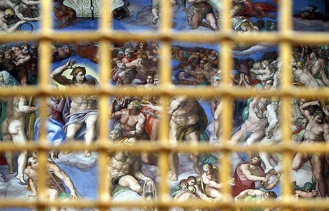 Le Jugement dernier de Michel-Ange, dans la Chapelle Sixtine, au Vatican.