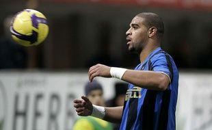 Adriano sous les couleurs de l'Inter Milan en 2008.