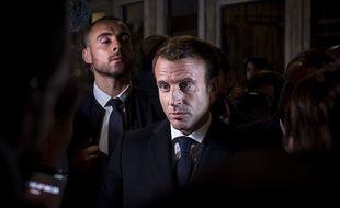 Emmanuel Macron lors de sa visite à Rouen, le 30 octobre 2019.