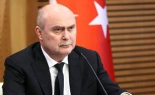 Le ministre turc des Affaires étrangères Feridun Sinirlioglu à Ankara, le 16 octobre 2015