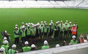Bordeaux, le 12 mars 2015 - L'UBB visite le Nouveau stade.